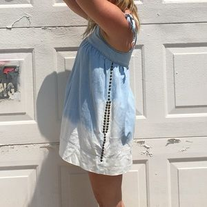 BCBG denim tie dye mini dress